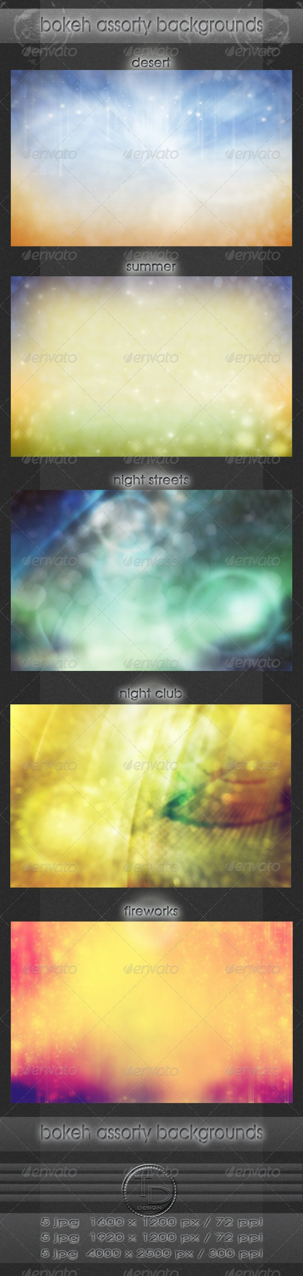 Bokeh Assorty Backgrounds - Abstract Backgrounds