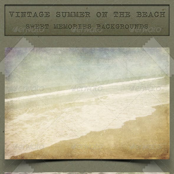 Vintage Summer on the Beach Backgrounds