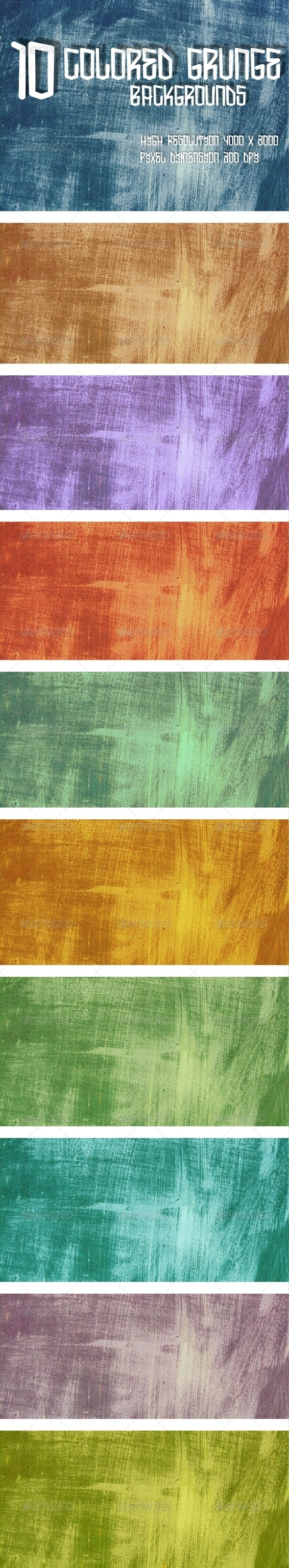 Colored Grunge Pack 1 - Industrial / Grunge Textures