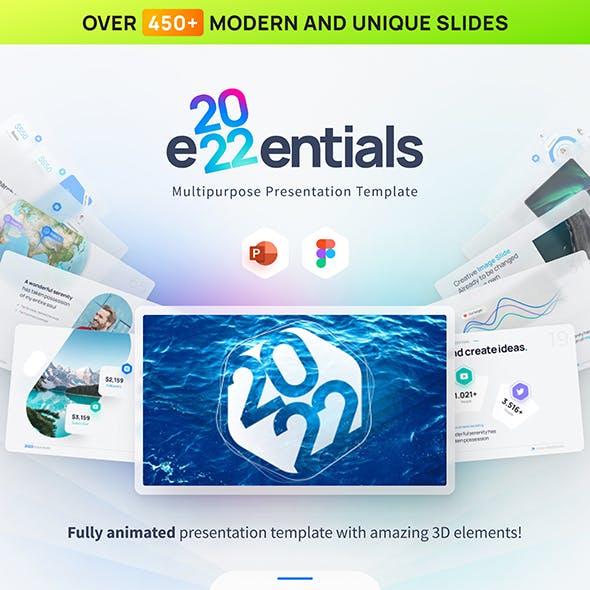 2022 Essentials Multipurpose Premium PowerPoint Presentation Template
