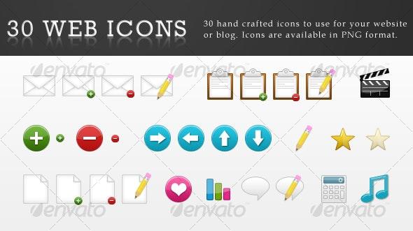 30 Web Icons - Web Icons