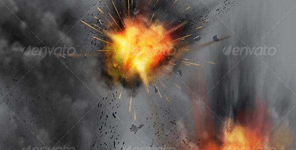 Explosion & Smoke Particle Effects - Backgrounds Graphics