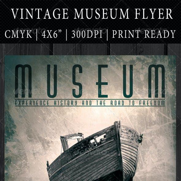Vintage Museum Flyer Template