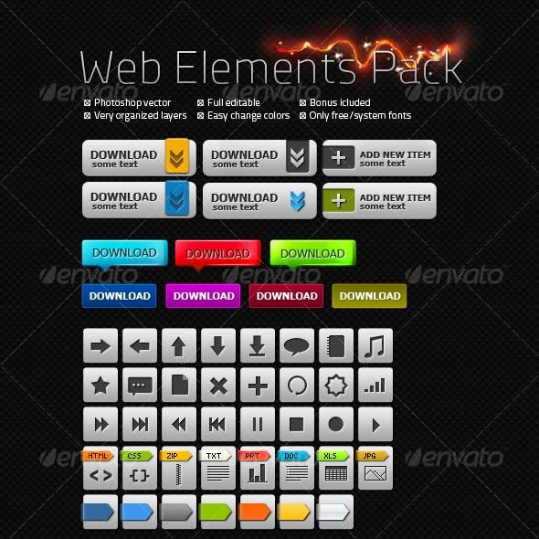 Carbon Web Elements Pack