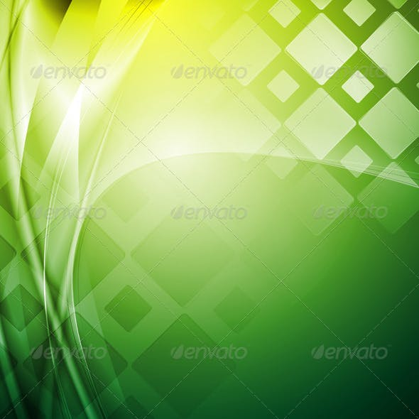 Bright green tech background