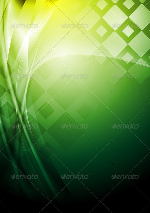 Bright green tech background - Abstract Conceptual