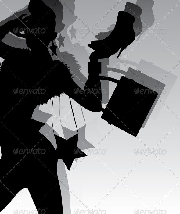 Fashion silhouette - Commercial / Shopping Conceptual