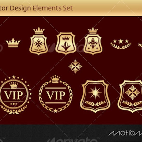 Vector Luxury Design Elements Set