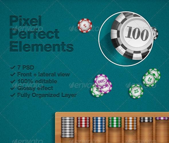 Poker Chips PSD