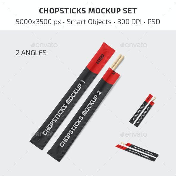 Chopsticks Mockup Set