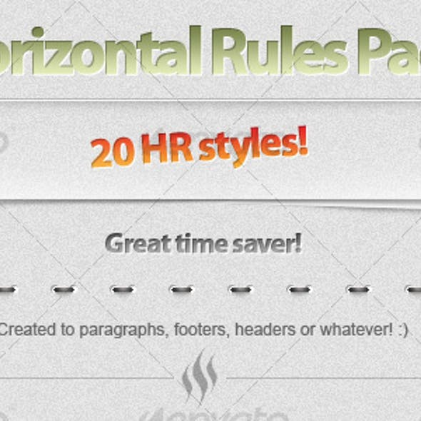 20 Horizontal Rule (HR) styles!