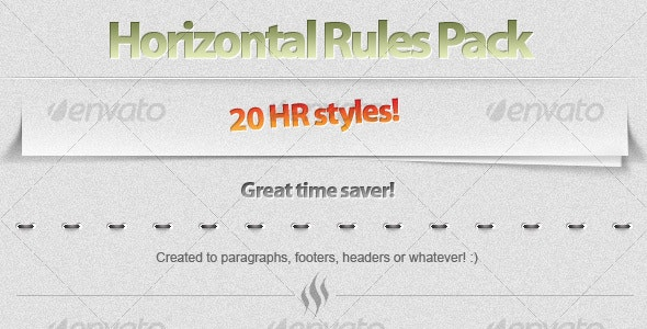 20 Horizontal Rule (HR) styles! - Miscellaneous Web Elements