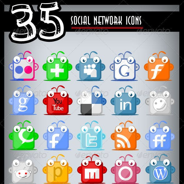 Social Network Icons Pack One