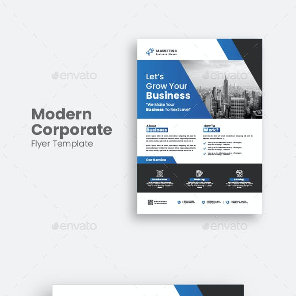 Corporate Business Flyer Template.