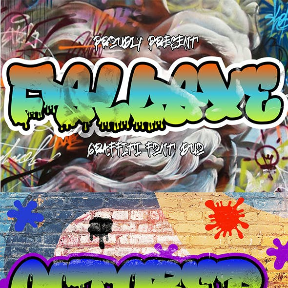Fallaxe - Dripping Graffiti Font