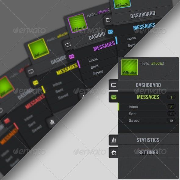 Vertical User Dashboard-Navigation