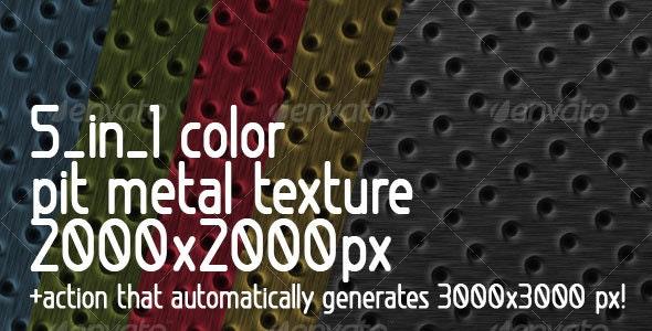 5 in 1 color Pit Metal Texture + Action - Metal Textures