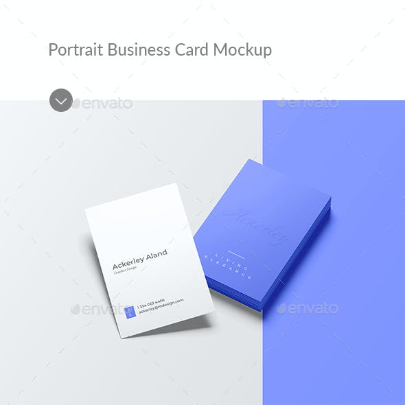 Portrait Business Card Mockup
