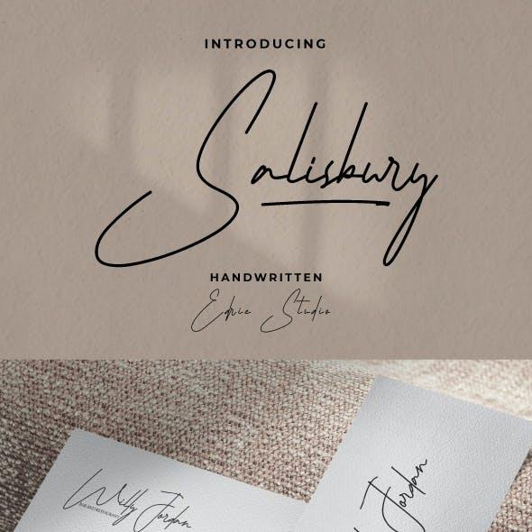 Salisbury Handwriting Font