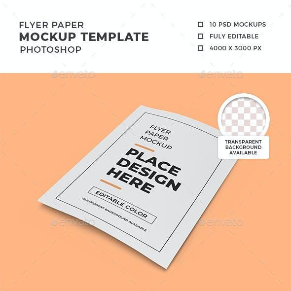 Flyer Paper Mockup Template Set