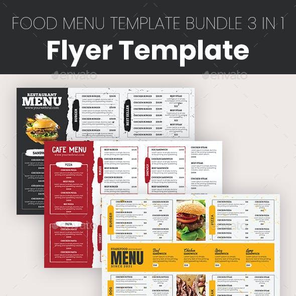 Food Menu Template Bundle 3 in 1