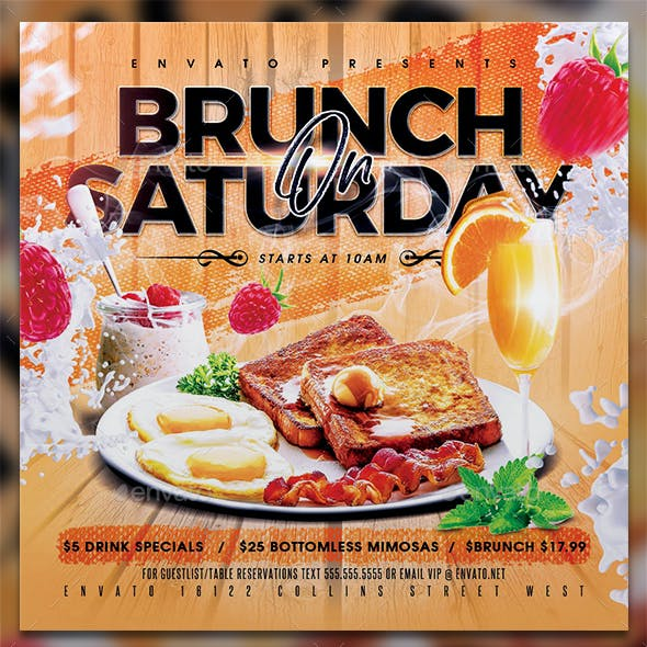 Brunch On Saturday Flyer Template