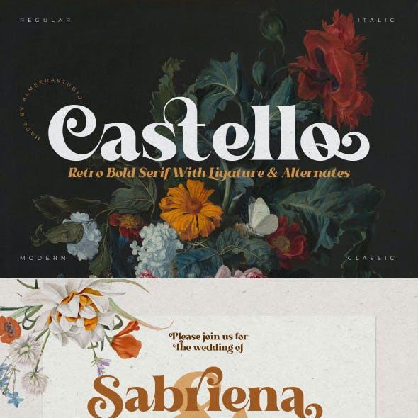 Castello Typeface   Retro Bold Serif