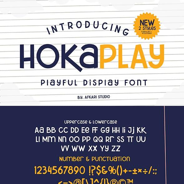 Hokaplay - Playful Display Font