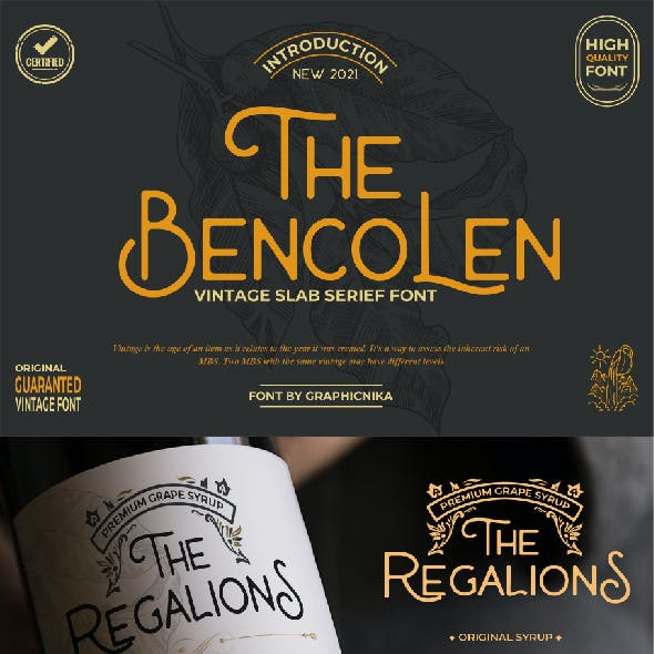 The Bencolen Vintage Font