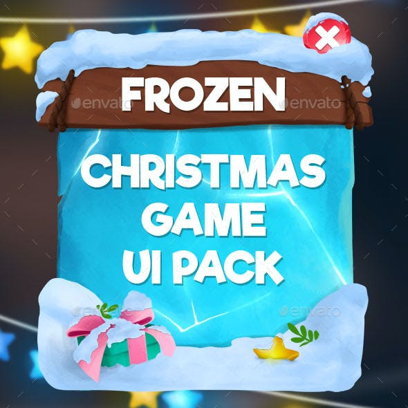 Frozen Christmas Game UI Pack