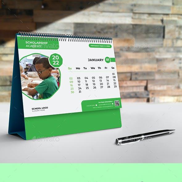 School Desk Calendar 2022