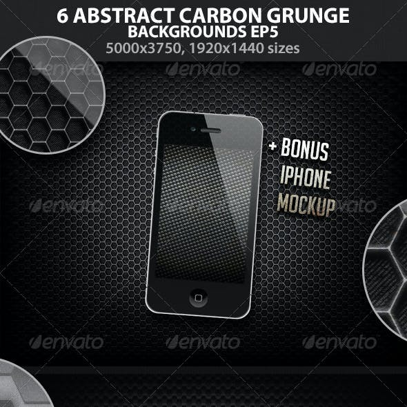 6 Abstract Carbon Grunge Backgrounds EP 5