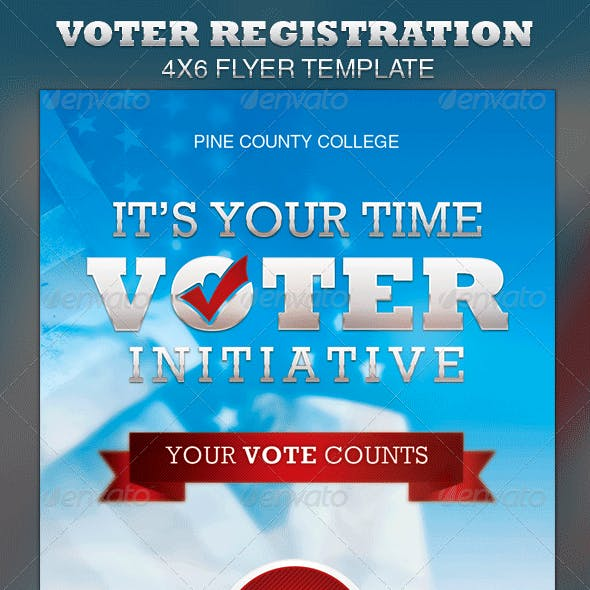 Voter Registration Drive Flyer Template