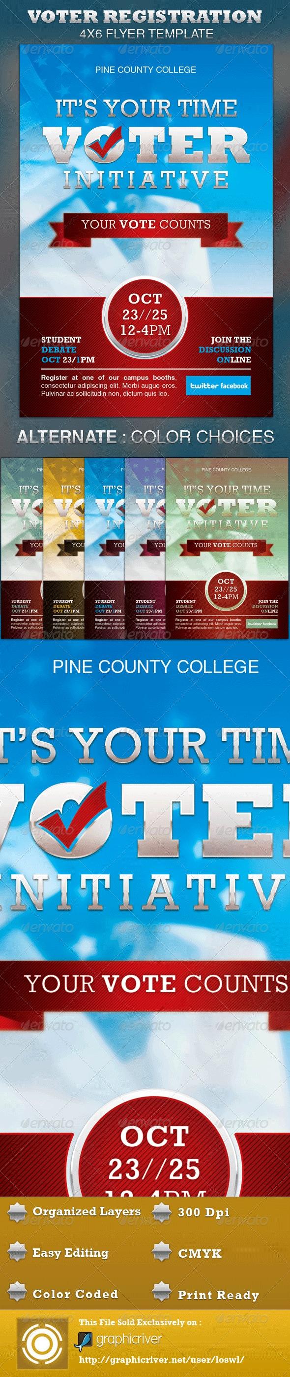 Voter Registration Drive Flyer Template - Events Flyers