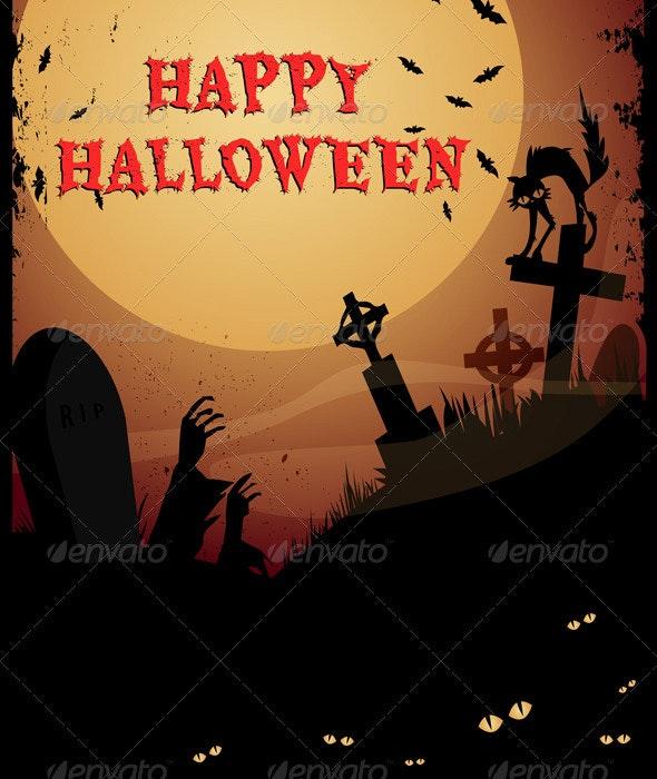 Halloween graveyard - Halloween Seasons/Holidays