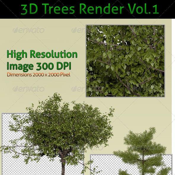 Trees 3D Render