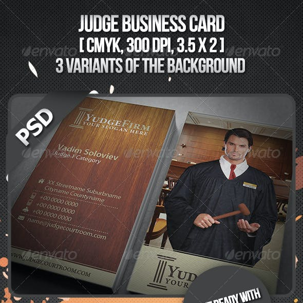 Judge Business Card