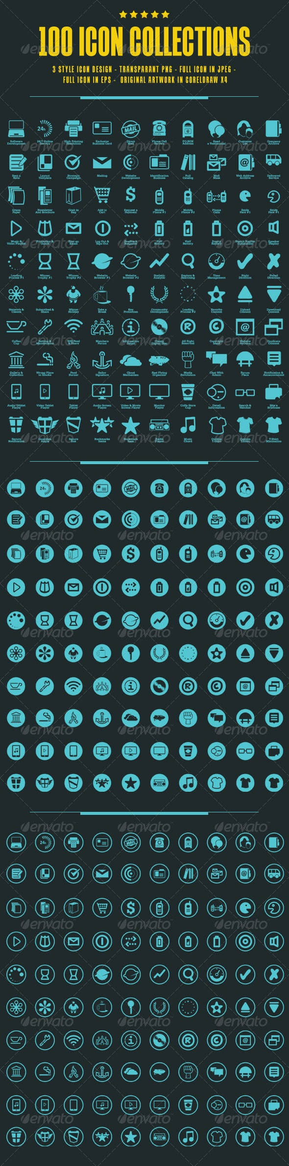 100 Icons Collections - Icons