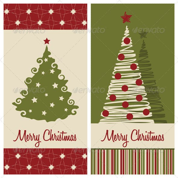 2 Vector Christmas Card Backgrounds