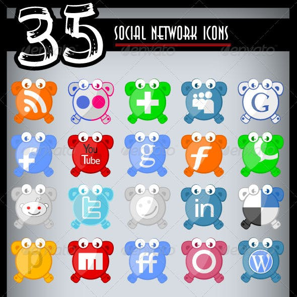 Social Network Icons Pack Two