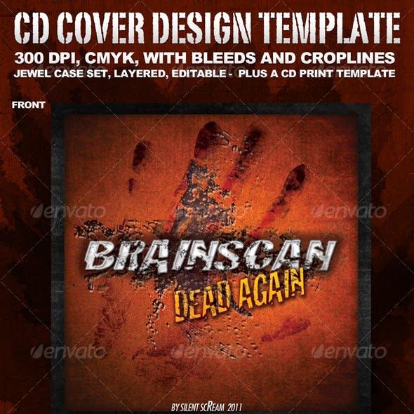 "CD Cover Template ""BrainScan"""