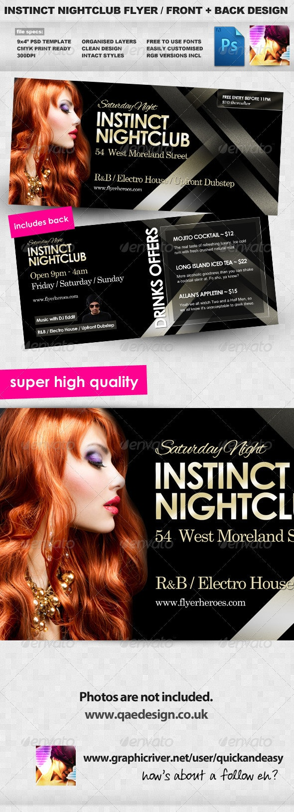 Instinct Flyer Template - Clubs & Parties Events