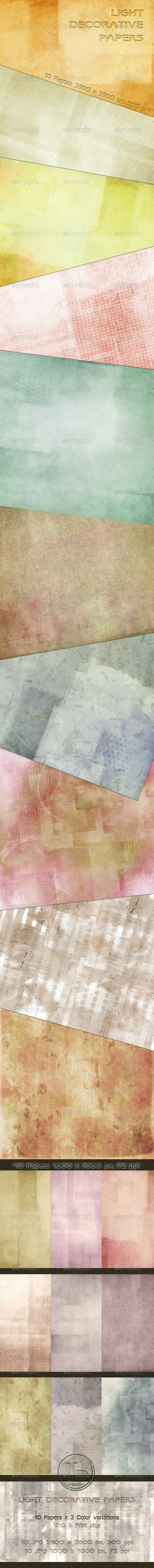 Light Decorative Papers - Paper Textures