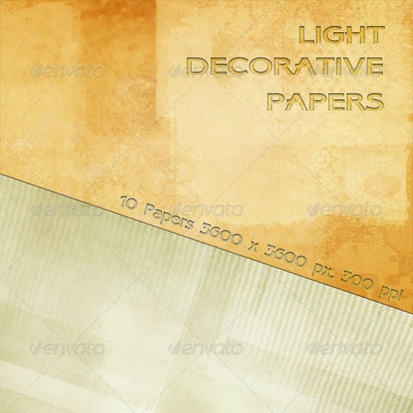 Light Decorative Papers