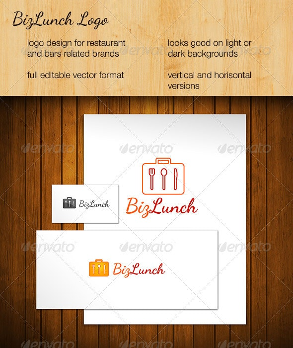Business Lunch - Food Logo Templates