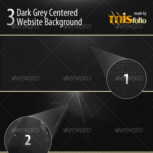 3 Dark Grey Centered Website Background