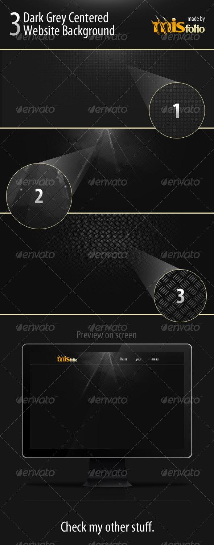 3 Dark Grey Centered Website Background - Miscellaneous Backgrounds
