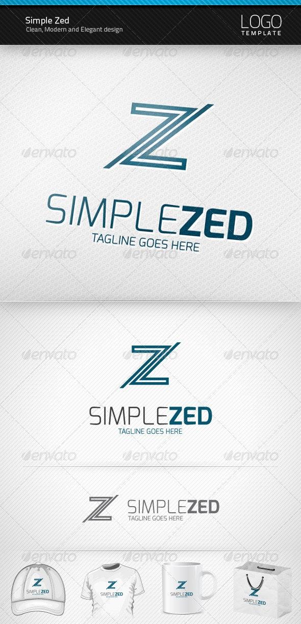 Simple Zed Logo - Letters Logo Templates