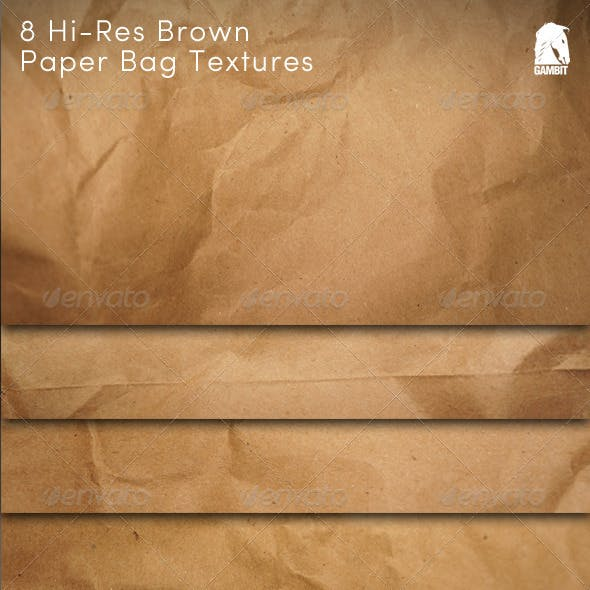 8 Hi-Res Brown Paper Bag Textures