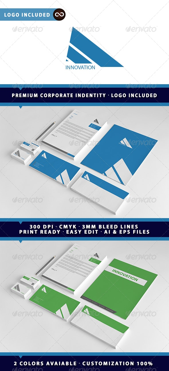 Innovation Corporate Identity Package - Stationery Print Templates